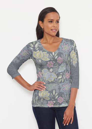 Isabellas Garden (13410) ~ Signature 3/4 V-Neck Shirt