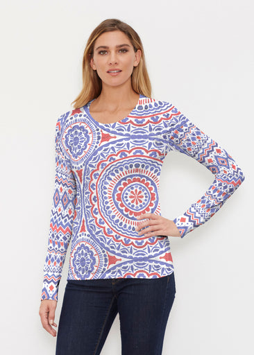 Kaleidoscope RWB (13412) ~ Thermal Long Sleeve Crew Shirt