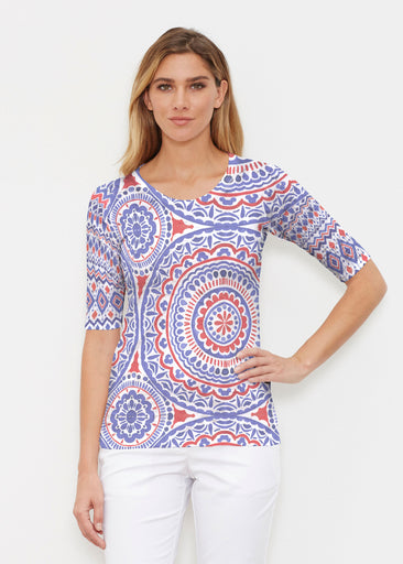 Kaleidoscope RWB (13412) ~ Elbow Sleeve Crew Shirt
