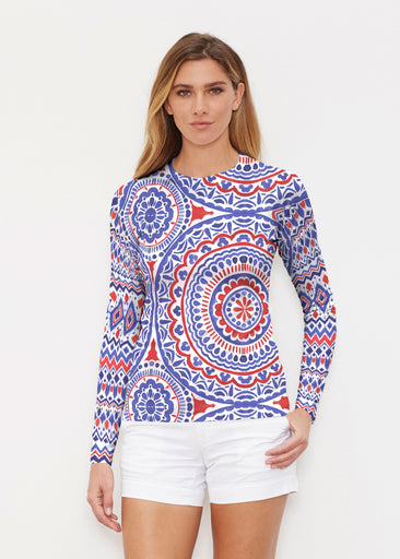 Kaleidoscope RWB (13412) ~ Long Sleeve Rash Guard