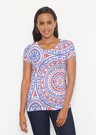 Kaleidoscope RWB (13412) ~ Short Sleeve Scoop Shirt