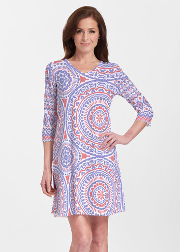 Kaleidoscope RWB (13412) ~ V-neck Swing Dress