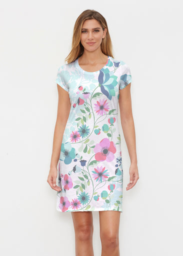 Floral Vines (13420) ~ Classic Crew Dress