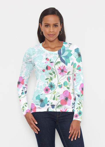 Floral Vines (13420) ~ Signature Long Sleeve Crew Shirt