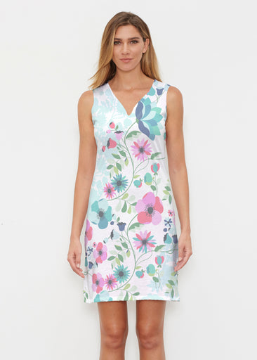Floral Vines (13420) ~ Classic Sleeveless Dress