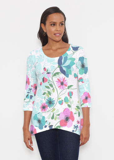 Floral Vines (13420) ~ Katherine Hi-Lo Thermal Tunic