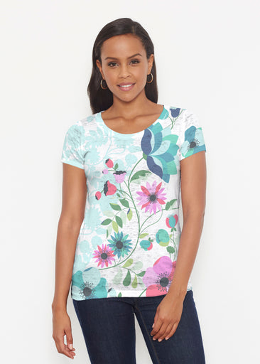 Floral Vines (13420) ~ Short Sleeve Scoop Shirt