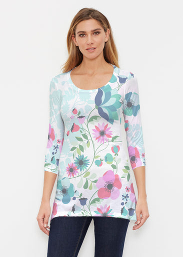 Floral Vines (13420) ~ Buttersoft 3/4 Sleeve Tunic