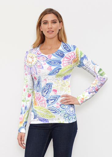 Summertime (13421) ~ Thermal Long Sleeve Crew Shirt