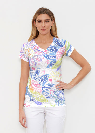 Summertime (13421) ~ Signature Cap Sleeve V-Neck Shirt