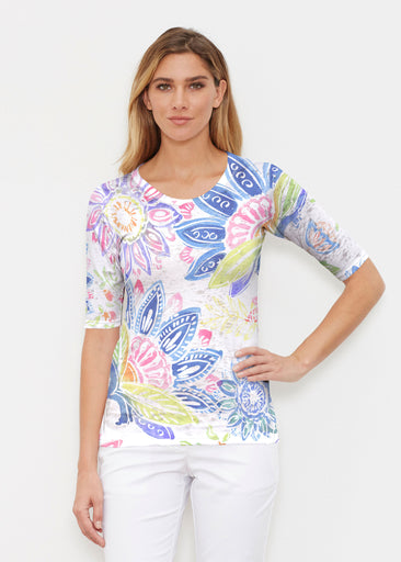 Summertime (13421) ~ Signature Elbow Sleeve Crew Shirt