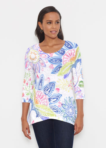Summertime (13421) ~ Katherine Hi-Lo Thermal Tunic