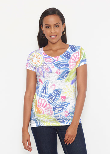 Summertime (13421) ~ Short Sleeve Scoop Shirt