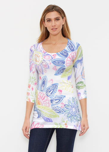 Summertime (13421) ~ Buttersoft 3/4 Sleeve Tunic