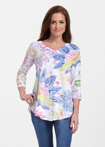 Summertime (13421) ~ Signature V-neck Flowy Tunic