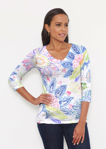Summertime (13421) ~ Signature 3/4 V-Neck Shirt