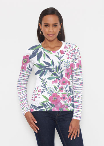 Summer Floral (13423) ~ Signature Long Sleeve Crew Shirt
