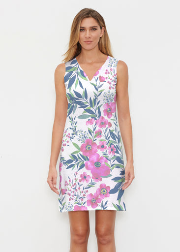 Summer Floral (13423) ~ Classic Sleeveless Dress