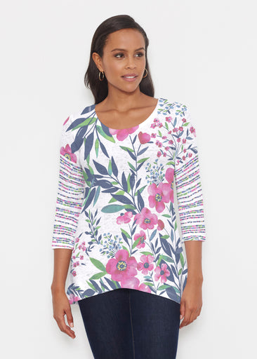 Summer Floral (13423) ~ Katherine Hi-Lo Thermal Tunic