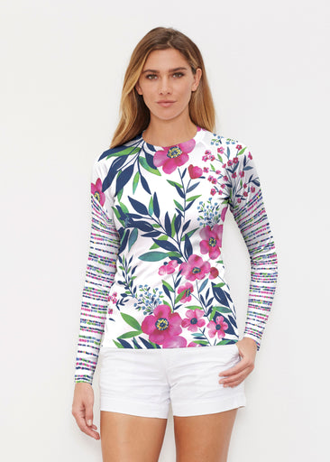 Summer Floral (13423) ~ Long Sleeve Rash Guard