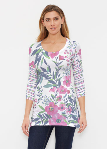 Summer Floral (13423) ~ Buttersoft 3/4 Sleeve Tunic