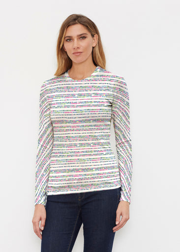 Rainbow Dots (13429) ~ Butterknit Long Sleeve Crew Top