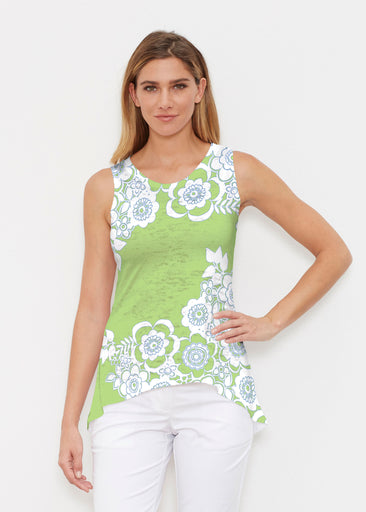 Free Floral Lime (13436) ~ Signature High-low Tank