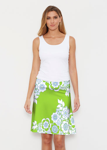 Free Floral Lime (13436) ~ Silky Brenda Skirt 21 inch