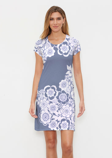 Free Floral Navy (13451) ~ Classic Crew Dress