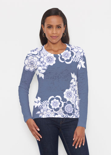 Free Floral Navy (13451) ~ Signature Long Sleeve Crew Shirt