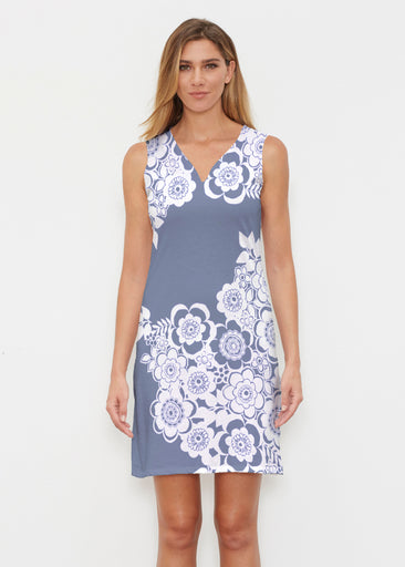 Free Floral Navy (13451) ~ Classic Sleeveless Dress