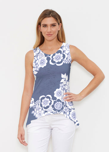 Free Floral Navy (13451) ~ High-low Tank