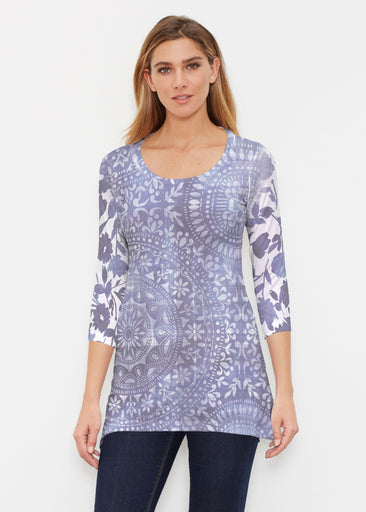 Medallion Flower (13453) ~ Buttersoft 3/4 Sleeve Tunic