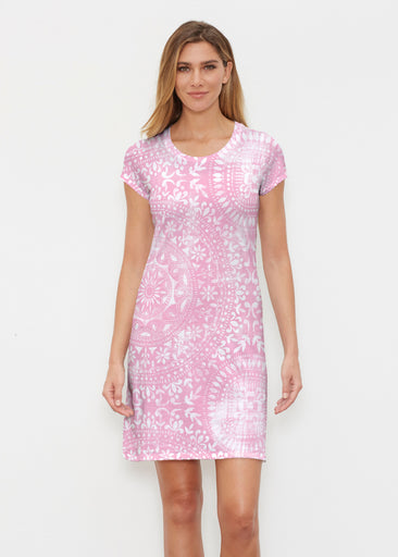 Dual Medallion Pink (13461) ~ Classic Crew Dress