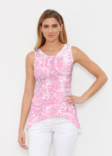 Dual Medallion Pink (13461) ~ Signature High-low Tank