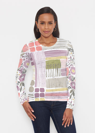 Transcendent Floral (13483) ~ Signature Long Sleeve Crew Shirt