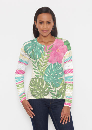 Wild Begonia (13489) ~ Signature Long Sleeve Crew Shirt