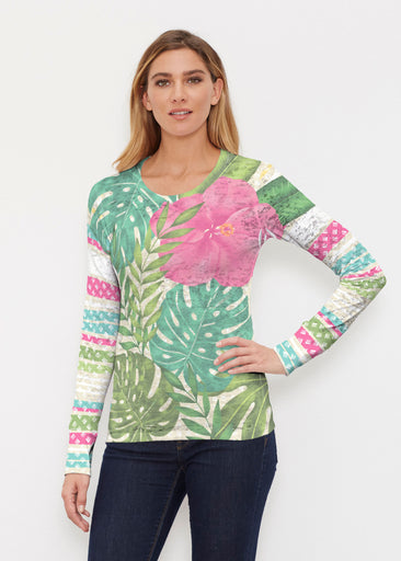Wild Begonia (13489) ~ Thermal Long Sleeve Crew Shirt