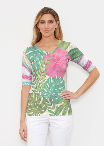 Wild Begonia (13489) ~ Signature Elbow Sleeve Crew Shirt