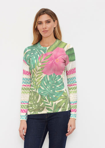 Wild Begonia (13489) ~ Butterknit Long Sleeve Crew Top
