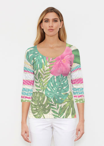 Wild Begonia (13489) ~ Signature 3/4 Sleeve Scoop Shirt
