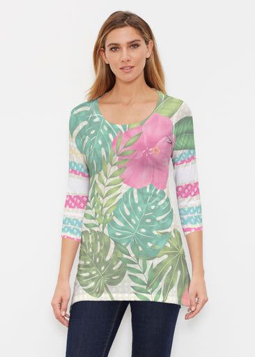 Wild Begonia (13489) ~ Buttersoft 3/4 Sleeve Tunic