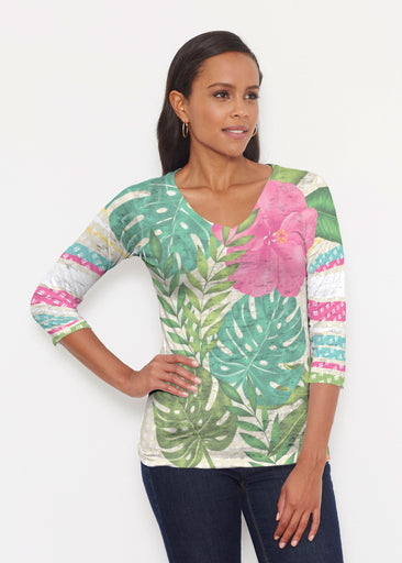 Wild Begonia (13489) ~ Signature 3/4 V-Neck Shirt