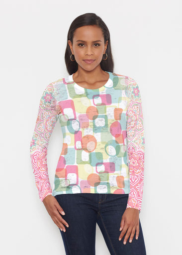Mandala Geo (13495) ~ Signature Long Sleeve Crew Shirt