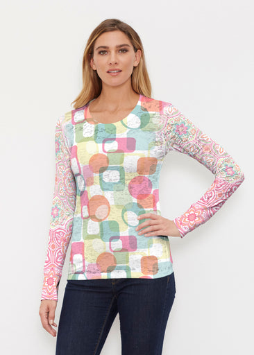 Mandala Geo (13495) ~ Thermal Long Sleeve Crew Shirt