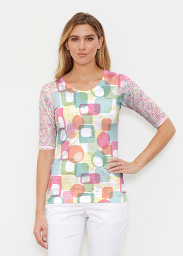 Mandala Geo (13495) ~ Signature Elbow Sleeve Crew Shirt