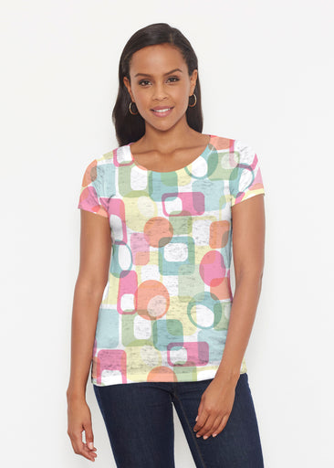 Mandala Geo (13495) ~ Signature Short Sleeve Scoop Shirt