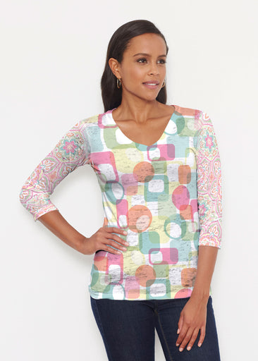 Mandala Geo (13495) ~ Signature 3/4 V-Neck Shirt
