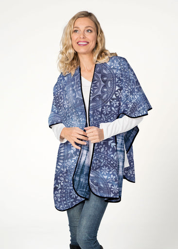 Medallion Tie Dye (13500) ~ Reversible Sweater Fleece Blanket Wrap