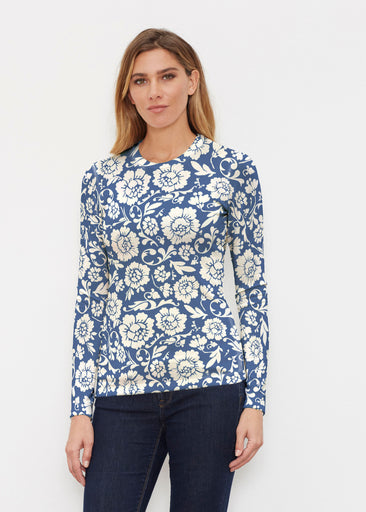 Traditional Navy (14135) ~ Butterknit Long Sleeve Crew Top